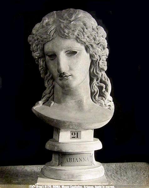 busto de Ariadna en marmol